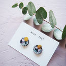 Geometric Plant Stud Earrings