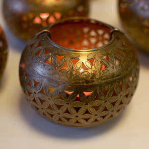 Moroccan Vintage Tea Light Holder Lantern Two Sizes - table decorations