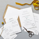Retro Schoolhouse Wedding Stationery Sample Pack