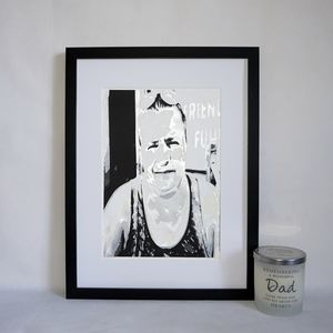 Personalised Memorial Portrait Layered Papercut