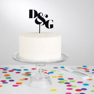 Personalised Couples Initials Cake Topper - cake toppers & decorations