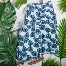 Father And Son Matching Navy Leaves Swim Shorts