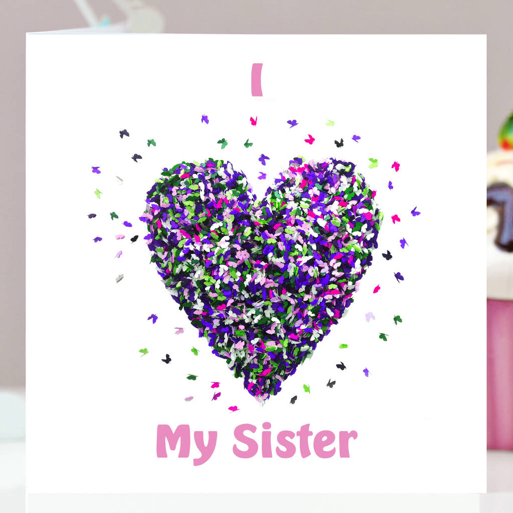 Butterfly I Love My Sister Card Birthday