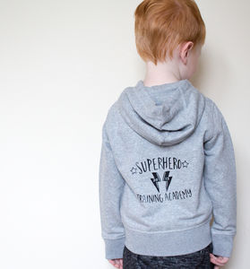 Personalised Superhero Academy Zip Up Hoody - clothing