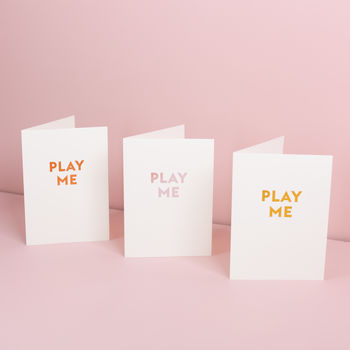 Play Me Greetings Card With Spotify Song Code