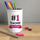 Personalised '#One Teacher' Pen Pot