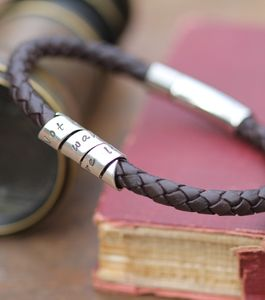 Not All Who Wander Men's Black Leather Bracelet - men's jewellery