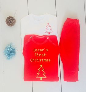 Personalised Baby Christmas Outfit