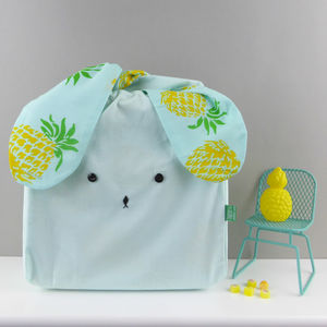 Bunny Rabbit Pineapple Fabric Bag - gifts for children