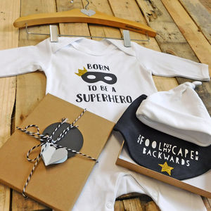 Personalised Superhero New Baby Gift