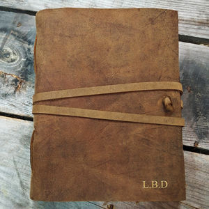 Personalised Buffalo Leather Journal - notebooks & journals