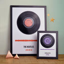 Personalised Vinyl Record Framed Song Print