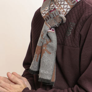 Personalised Nordic Stag Winter Scarf - ponchos & wraps