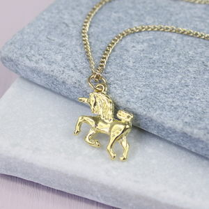 Gold Plated Unicorn Necklace - children's jewellery