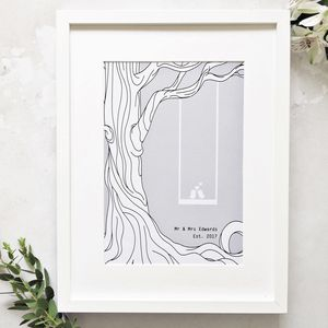Personalised Enchanted Forest Love Print - nature & landscape