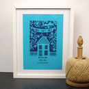 Home Sweet Home Unframed A4 Papercut