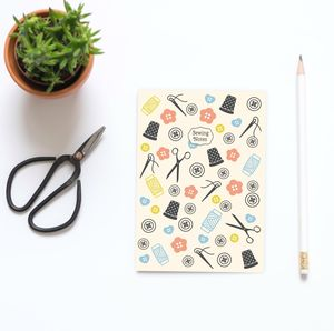 A5 Sewing Notes Notebook - gifts for her
