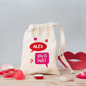Personalised Speech Bubble Valentine Sweet Bag