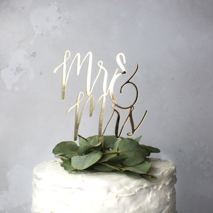 'Mr And Mrs' Wedding Cake Topper - spring styling