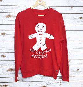 'Not My Gumdrop Buttons!' Christmas Sweatshirt - christmas jumpers