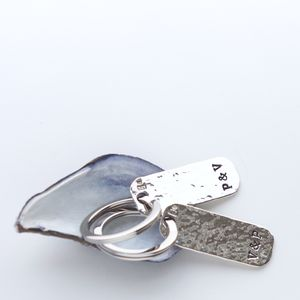 Personalised Couple's Silver Keyring Set