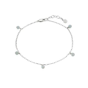 March Aquamarine Birthstone Anklet