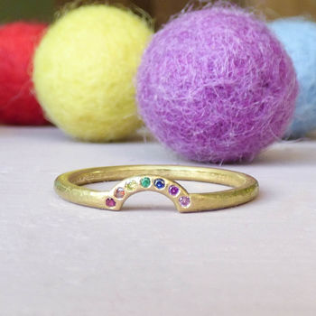 Rainbow 18ct Fairtrade Gold Ethical Ring