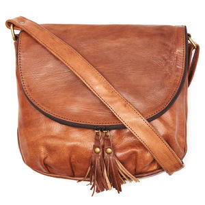 Half Moon Crossbody Leather Bag