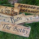 Personalised Vintage Wood Signs