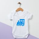 Personalised Train Baby Grow