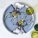 'Scottish Stags' Birchwood Serving Tray