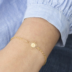 Personalised Sunburst Bracelet - jewellery