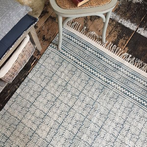 Faded Cotton Dhurrie Rug - rugs & doormats