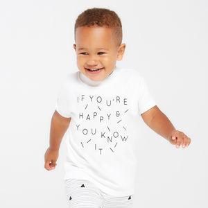 Children's 'Happy' T Shirt
