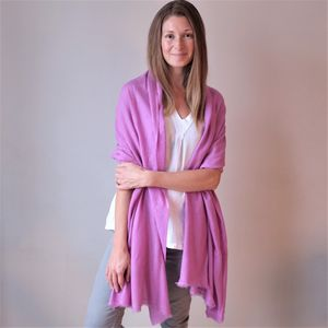 Large Lambswool Pashmina Style Shawl Wrap - accessories
