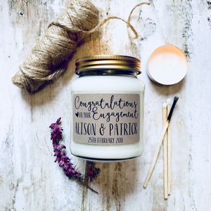 Personalised Engagement Scented Soy Candle - candles & home fragrance