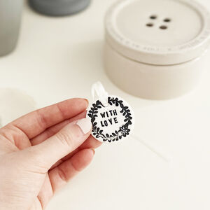 With Love Porcelain Token With Personalised Card