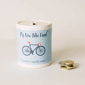 My New Bike Fund Money Box - gifts for cyclists