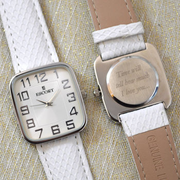 Personalised Wrist Watch Square Dial