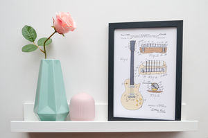 Framed Gibson Les Paul Guitar Patent Art Print
