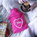 Personalised Heart Hot Water Bottle Cover