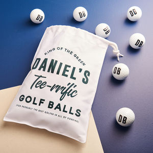 Personalised Initialed Golf Balls And Bag - personalised