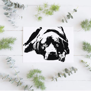 Personalised Pet Portrait Foil Photograph Print - pet-lover