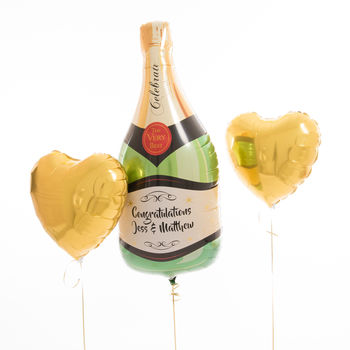 Inflated Personalised Engagement Toast Balloons