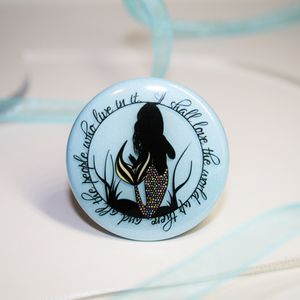 Love The World Mermaid 38mm Badge