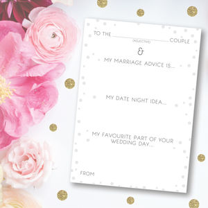Pack Of 25 Portrait Wedding Advice Cards - advice cards & table games