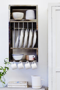 Mini Stainless Steel Plate Rack - shelves
