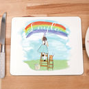 Children's Personalised Placemat 'Rainbows'