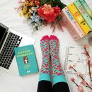 Turquoise And Pink Leopard Print Sock