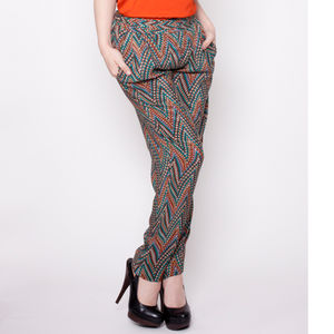 Relaxed Fit Silk Trousers - trousers & leggings
